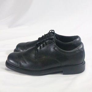 ROCKPORT Men's Margin Black Leather Oxford Shoes
